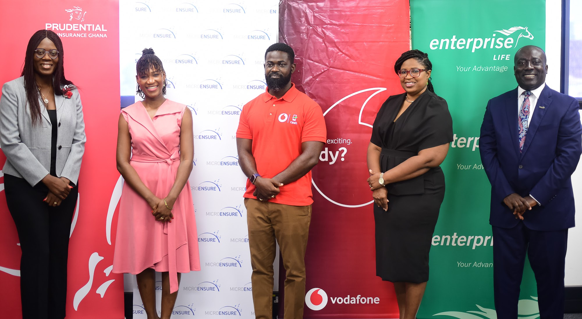 Prudential Life partners with Vodafone, MicroEnsure and Enterprise to launch an innovative mobile insurance plan for Ghanaians
